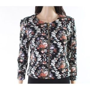 ✨NWT✨ PHILOSOPHY Black Floral Zip Up Jacket